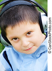 Kid in headphones