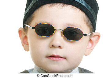 Kid in sunglasses