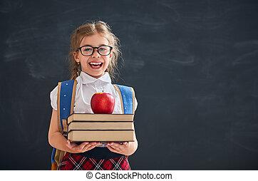 Kid is learning in class - Back to school! Happy cute...