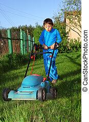 kid lawn mower