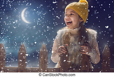 kid on dark background