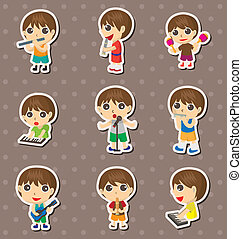 kid play music stickers