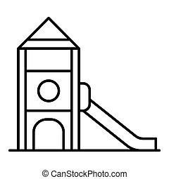 Kid playground icon, outline style