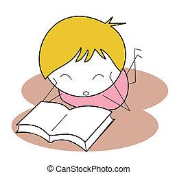 kid read book
