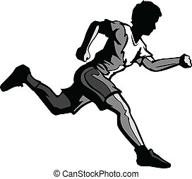 Kid Running Vector Cartoon