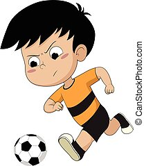 kid running with ball