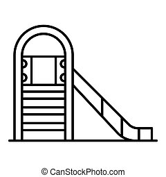 Kid slide icon, outline style