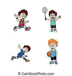 kid sporty illustration design