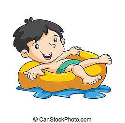 kid swim