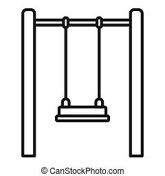 Kid swing icon, outline style