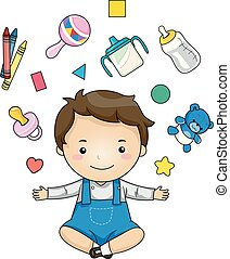 Kid Toddler Boy Elements Illustration