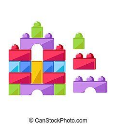 Kid toy construction cubes or children constructor plaything...