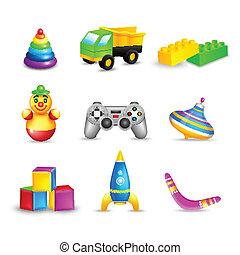 Kid Toys Icons Set