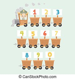 Kid Train with Numbers
