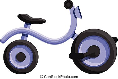 Kid tricycle icon, cartoon style - Kid tricycle icon....