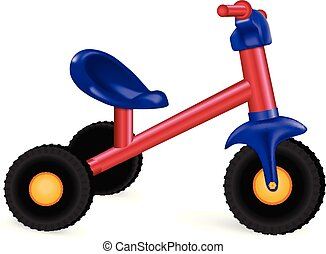 Kid tricycle icon, realistic style - Kid tricycle icon....