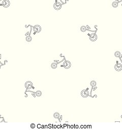 Kid tricycle pattern seamless vector repeat geometric for...