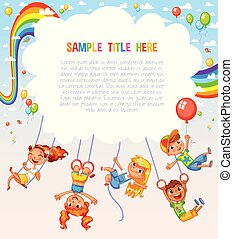 Template is ready for advertising of children's Entertainment Center or Amusement Park