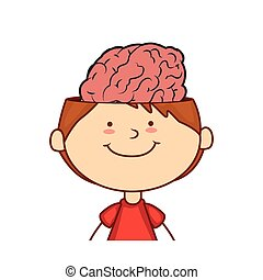 kid with brain character