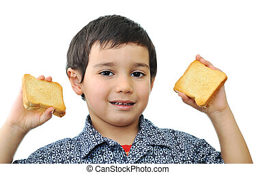 Kid with bread
