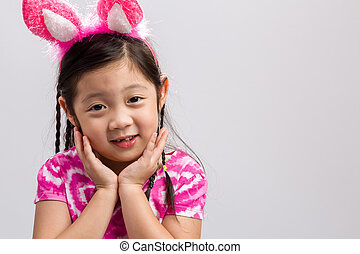 Kid with Bunny Ears