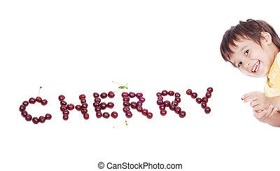 kid with cherry