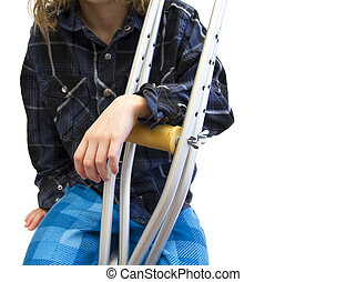 kid with crutches
