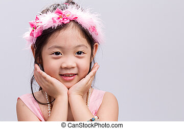 Kid with Flower Crown