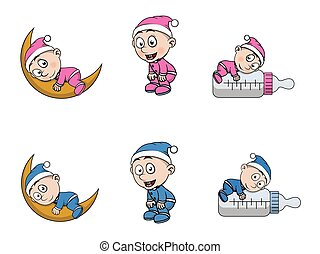 kid with pajama illustration design