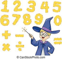 Kid Wizard Magic Numbers