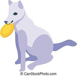 Kid wolf icon, isometric style