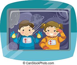 kiddie, 宇宙飛行士