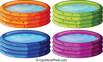 Kiddie pools - Illustration of the kiddie pools on a white ...