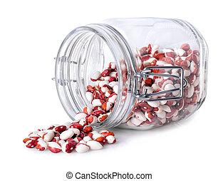 Kidney beans in jar