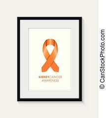 kidney cancer awareness frame