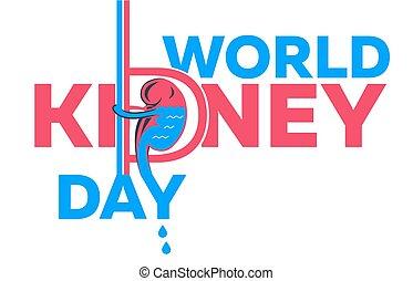 kidney day Banner  white