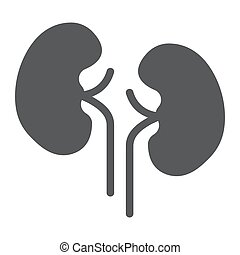 Kidney glyph icon, anatomy and biology, urology sign, vector graphics, a solid pattern on a white background, eps 10.