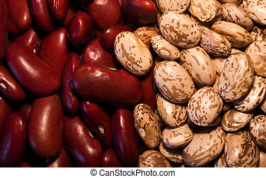 Kidney & Pinto BeansKidney & Pinto Beans - Background of...