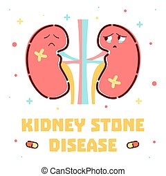 Kidney stone icons pictogram and diagrams depict signs symptoms kidney stone disease poster ccuart