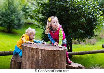 kids, на, , детская площадка