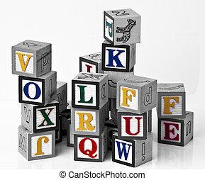 kids alphabets blocks