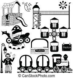kids amusement park set