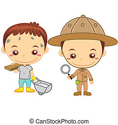 kids and jobs16 - A archaeologist and a construction worker...