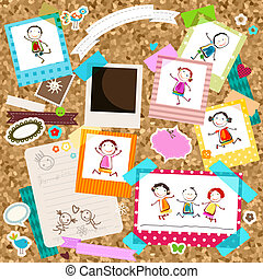 kids and photo frames - happy kids and photo frames