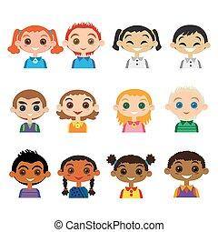 Kids avatar set
