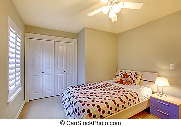 Kids bedroom with minimal modern design. - Kids bedroom with...