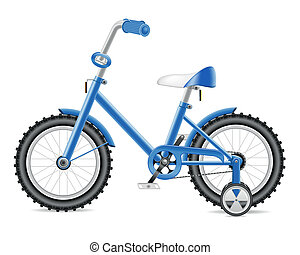 kids bicycle for a boy vector illustration isolated on white...