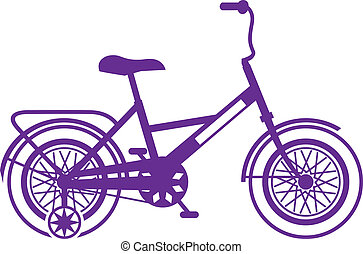 Kids bicycle - kids bicycle vector illustration clip-art