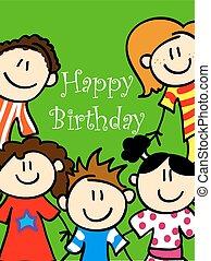 Kids birthday card 2