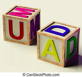 Kids Blocks Spelling Mum And Dad As Symbol for Parenthood